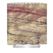 John Day Fossil Beds Shower Curtain by Greg Vaughn - Printscapes