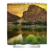 John Day River At Sunrise Shower Curtain