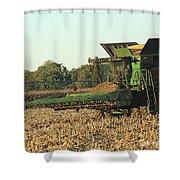 John Deere Combine Shower Curtain