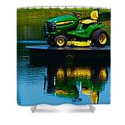 John Deere Mows The Water No 2 Shower Curtain