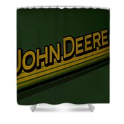 John Deere Signage Decal Shower Curtain