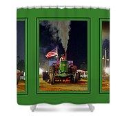 John Deere Tractor Pull Poster Shower Curtain