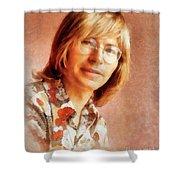 John Denver By John Springfield Shower Curtain