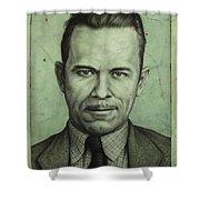 John Dillinger Shower Curtain