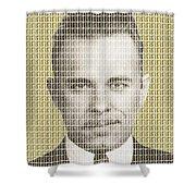 John Dillinger Mug Shot - Gold Shower Curtain