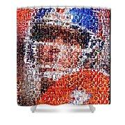 John Elway Mosaic Shower Curtain