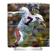 John Elway Number 7 Quarterback Denver Broncos Shower Curtain