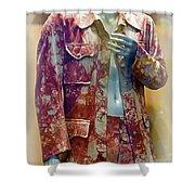 John Entwistle's Tie Died Suede Suit Shower Curtain