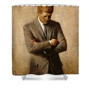 John F. Kennedy Shower Curtain