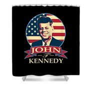 John F Kennedy American Banner Pop Art Shower Curtain