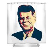 John F Kennedy Color Pop Art Shower Curtain
