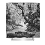 John Fitch Steamboat Shower Curtain by Granger