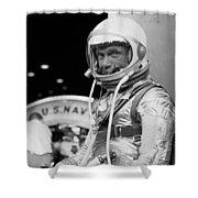 John Glenn Wearing A Space Suit Shower Curtain