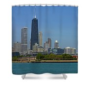 John Hancock Center Chicago Shower Curtain
