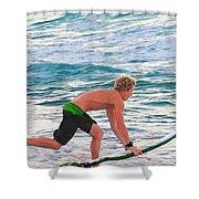 John John Florence - Surfing Pro Shower Curtain
