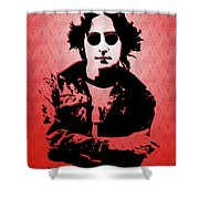 John Lennon - Imagine - Pop Art Shower Curtain