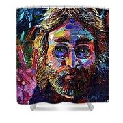 John Lennon Peace Shower Curtain