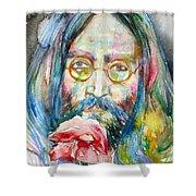 John Lennon - Watercolor Portrait.9 Shower Curtain