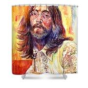 John Lennon Watercolor Shower Curtain