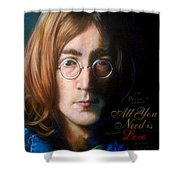 John Lennon - Wordsmith Shower Curtain