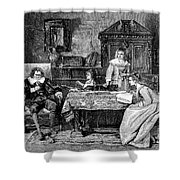 John Milton Dictating Paradise Lost Shower Curtain