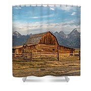 John Moulton Barn Sunrise Shower Curtain