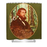 John Muir With A Chipmunk On His Shoulder Shower Curtain