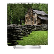 John Oliver Cabin Shower Curtain by Andrea Silies