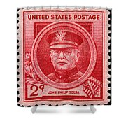 John Philip Sousa Postage Stamp Shower Curtain
