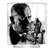John Steinbeck Shower Curtain