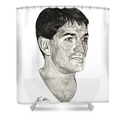 John Stockton Shower Curtain by Tamir Barkan
