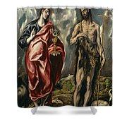 John The Baptist And Saint John The Evangelist Shower Curtain