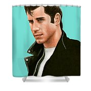 John Travolta Grease Shower Curtain