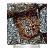 John Wayne Bottle Cap Mosaic Shower Curtain