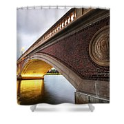 John Weeks Bridge Charles River Harvard Square Cambridge Ma Shower Curtain