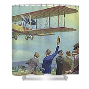 John William Alcock And Arthur Whitten Brown Who Flew Across The Atlantic Shower Curtain