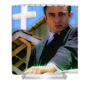 Johnny Cash 1961 Shower Curtain
