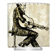 Johnny Cash II Shower Curtain