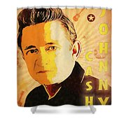 Johnny Cash Poster  Shower Curtain