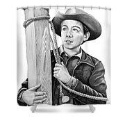 Johnny Crawford-mark Mccain Shower Curtain