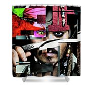 Johnny Depp - Collage  Shower Curtain