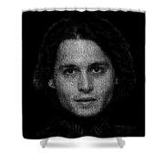 Johnny Depp Typography Shower Curtain