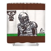 Johnny Manziel 11  Shower Curtain by Jeremiah Colley
