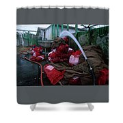 Johnson Oyster Company Shower Curtain