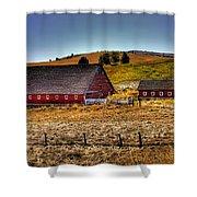 Johnson Road Barns Shower Curtain