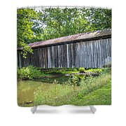 Johnson's Mill/salt Creek Covered Bridge  Shower Curtain
