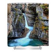 Johnston Canyon Falls Hike Upper Falls II Shower Curtain