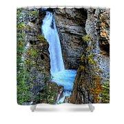 Johnston Canyon Falls Hike Upper Falls Shower Curtain