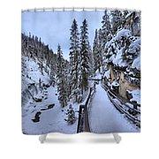 Johnston Canyon Winter Boardwalk Shower Curtain