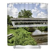 Johnston Covered Bridge Shower Curtain